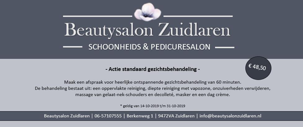 Beautysalon Zuidlaren actie